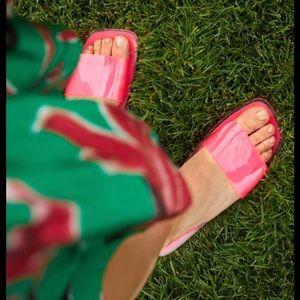 Zara pink slides